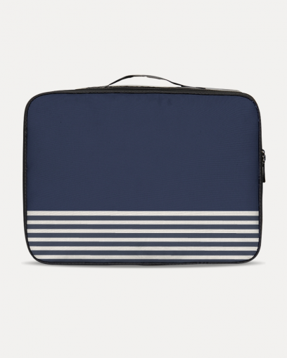 Blue with Lines Travel Set