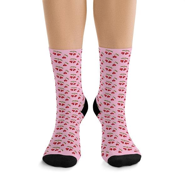 Heart Cherries Socks