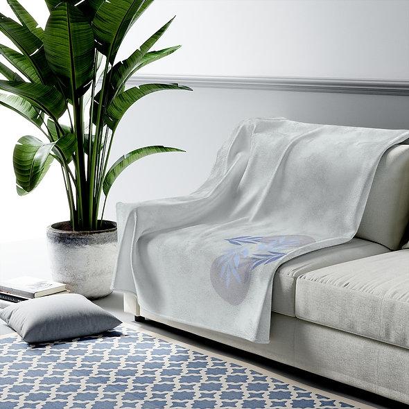 Blue Leaf Blanket
