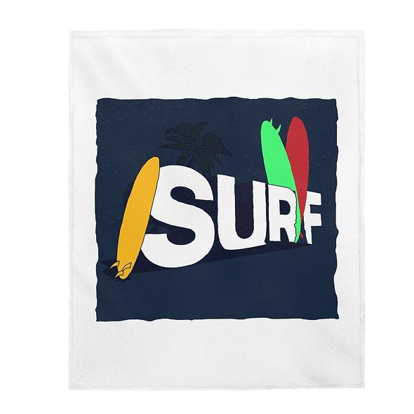 CA Surf Leaf Blanket