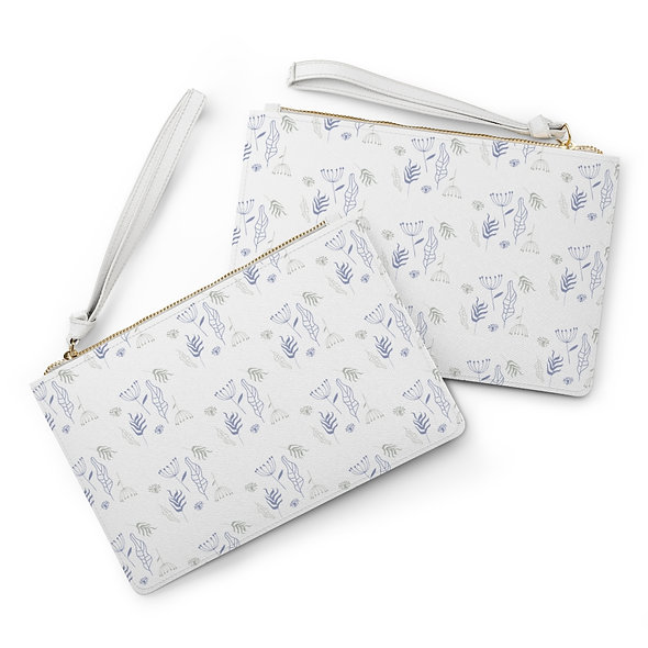 Water Flowers Clutch Bag