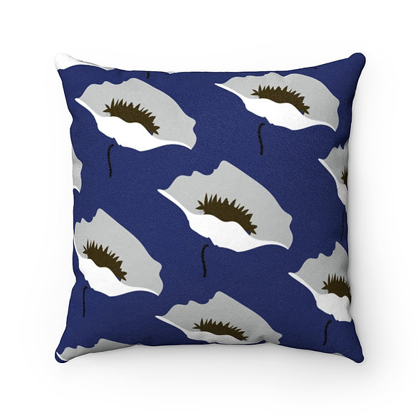 Blue Marimekko Pillow Case