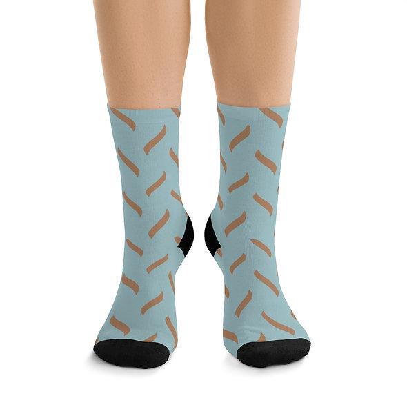 Wiggly Lines Socks