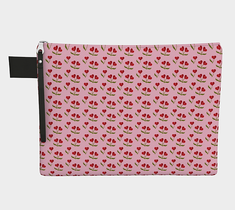 Heart Cherries Carry-all Pouch