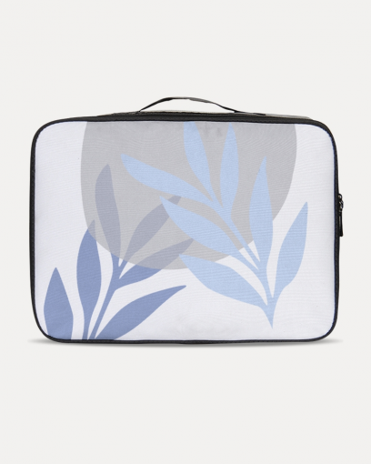 Blue Leaf Travel Case
