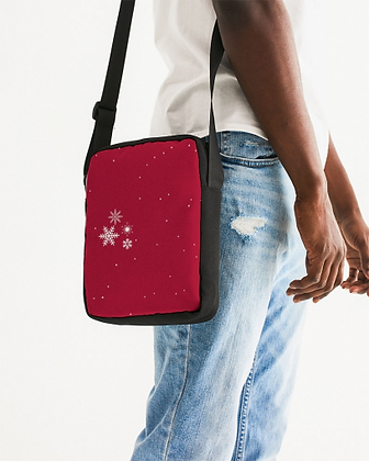 Red Unisex Messenger Pouch