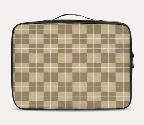 Checkered light Travel Case