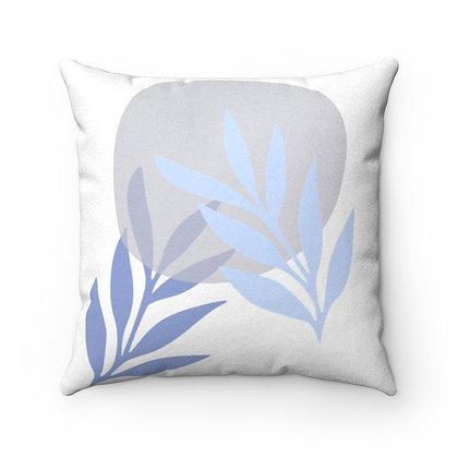 Blue Leaf Pillow Case