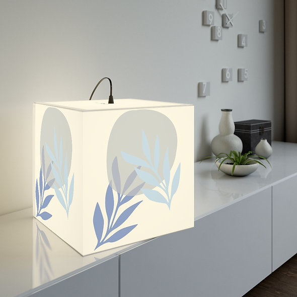 Blue Leaf Lamp