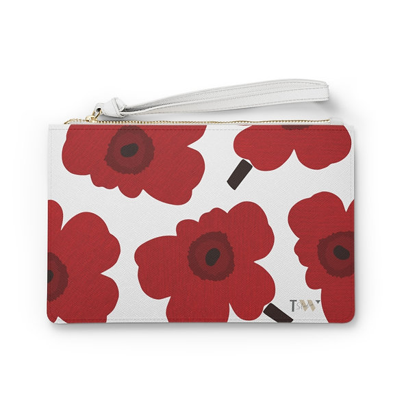 Red Marimekko Clutch Bag