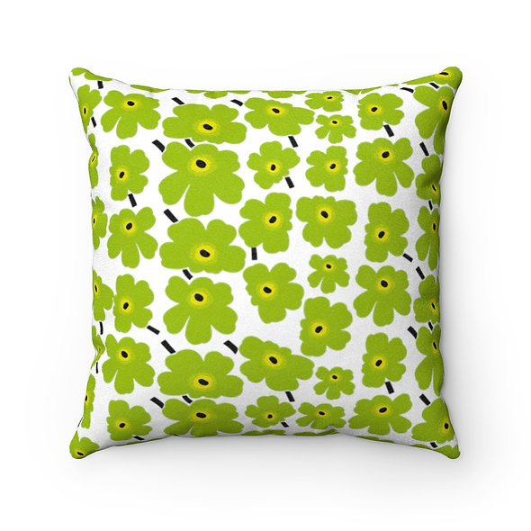 Green Marimekko Pillow Case