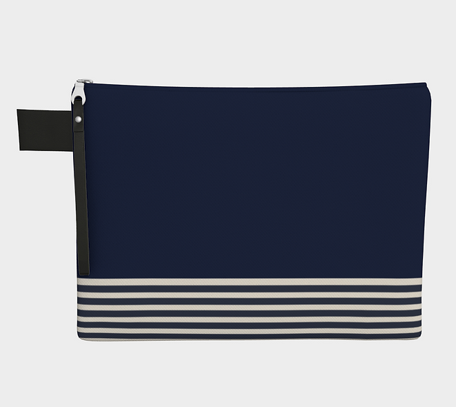 Blue & Lines Carry-all Pouch