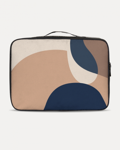 Abstract Beige Travel Set