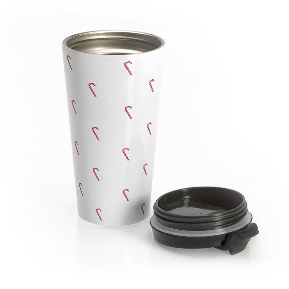 Candy Cane Travel Mug