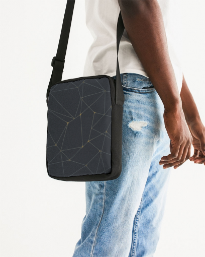 Unisex Abstract Messenger Pouch