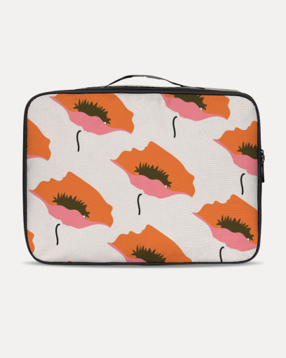 Orange Flower Travel Case