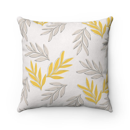 Yellow Leaf Pillow Case