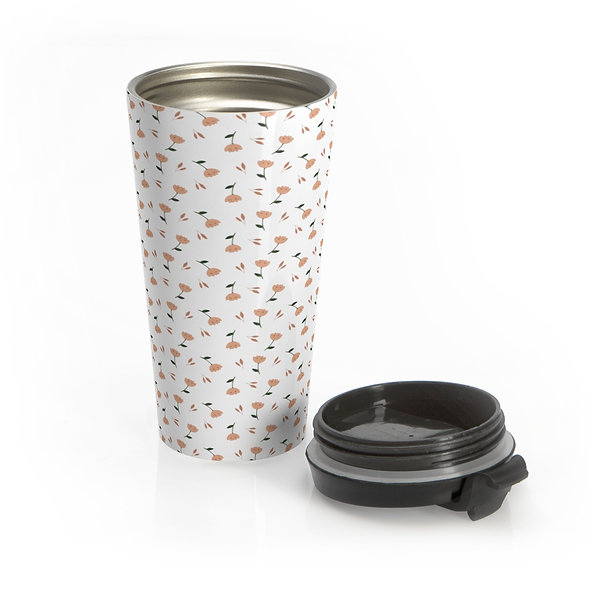 Orange Flower Travel Mug