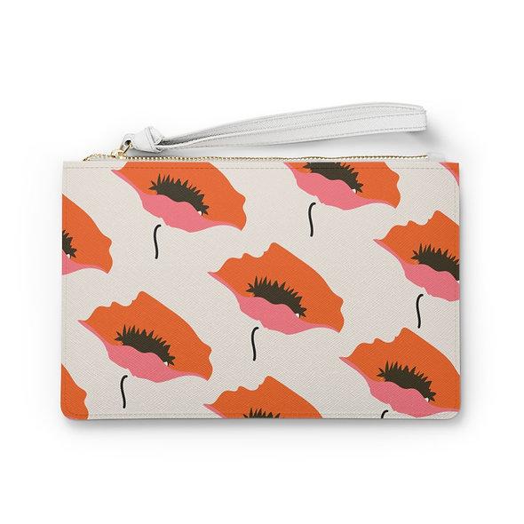 Marimekko Orange Clutch Bag