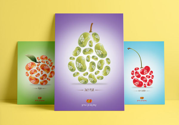 Jelly Belly Ad Campaign Huck Larson Wedding Invitation by Huck Yeah Studio