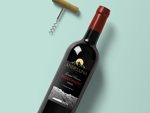 Andeluna Wine Label by Huck Yeah Studio