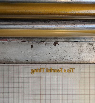 Photopolymer plate on the press