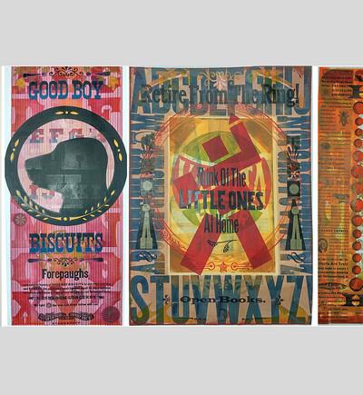 My inspiration: selection of letterpress prints by Chris Stern.