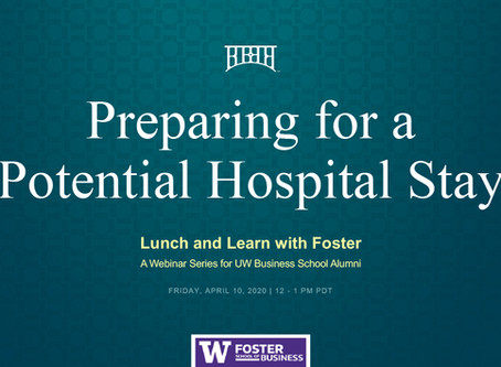 Preparing for a Potential Hospital Stay | Alumni Lunch and Learn Webinar