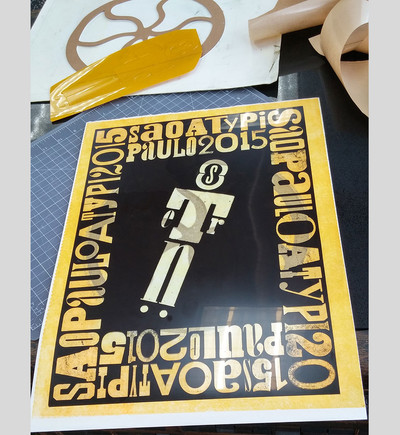 When I ordered plates fro 360 Printing I received this negative film as an extra with the plates which was great for planning. On the back is a C&P press wheel cut-out that I designed for the pressure print pass.