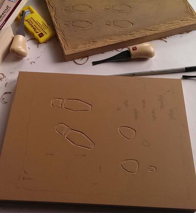 Carving linoleum block