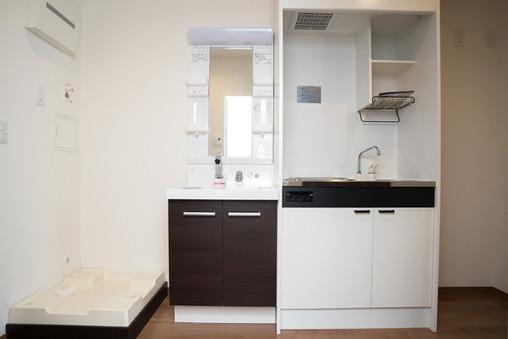 キッチン、洗面所、洗濯機置場