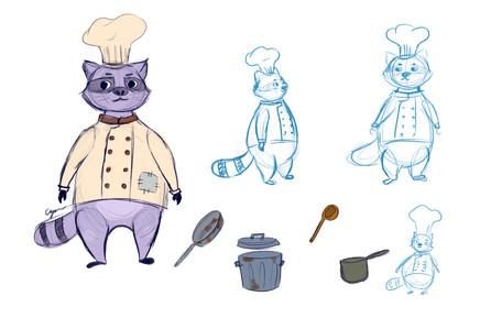 Chef Basu Character Sketches