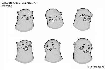 Character Facial Expressions - Sidekick Gopher