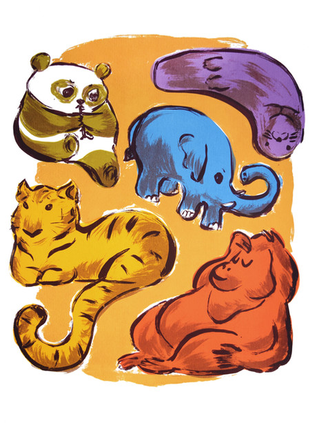 Animal Screenprint