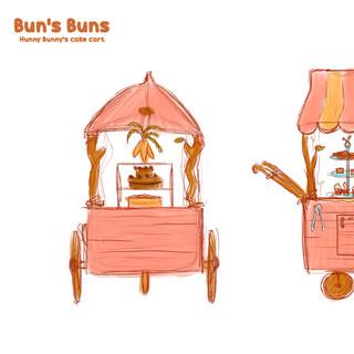 Buns Buns Cake Cart Sketches