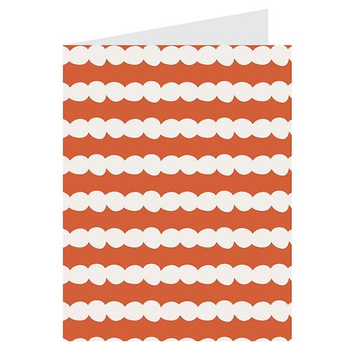polka stripe orange