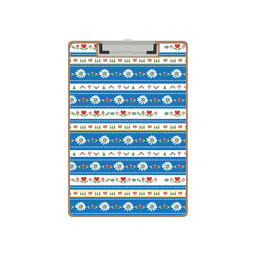 CLIPBOARD blue swiss days pattern
