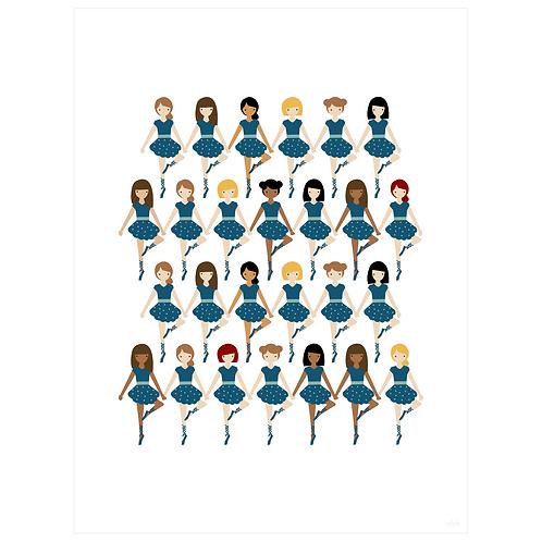 tiny dancer art print - navy - digital download