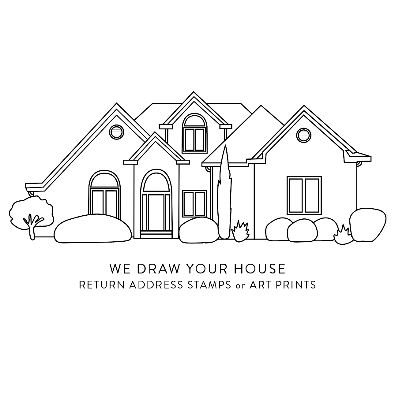 stamp we draw your house text currently out of stock click here to be notified when back in stock - Draw Your House