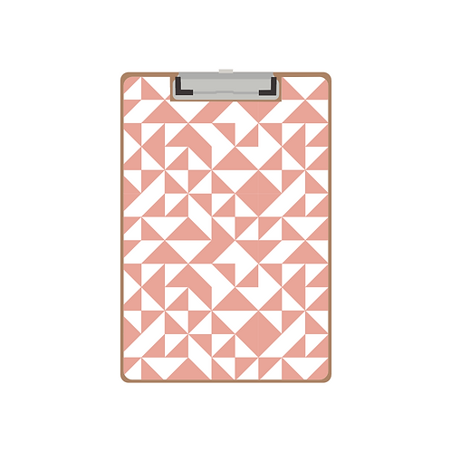 CLIPBOARD pink quilt triangle pattern