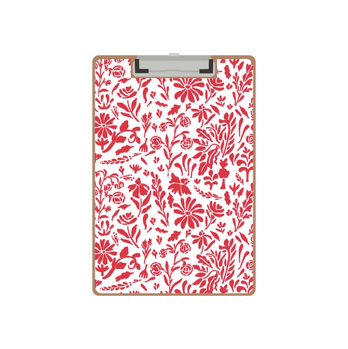 CLIPBOARD red old world floral pattern pattern