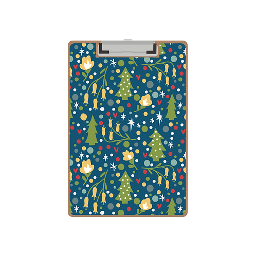 CLIPBOARD navy holiday party pattern