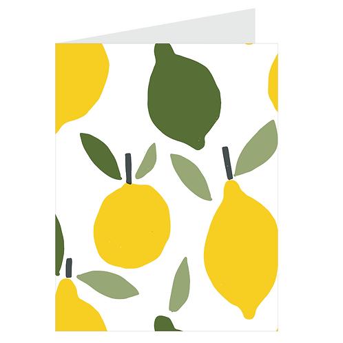 lemons card - white