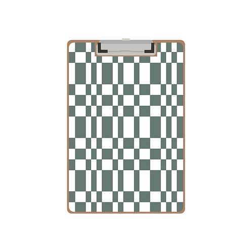 CLIPBOARD dark teal tile pattern