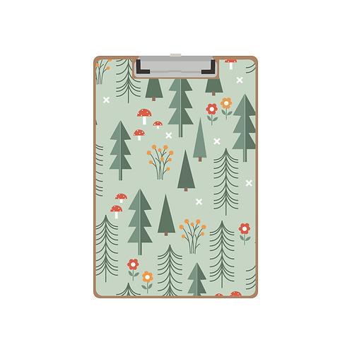 CLIPBOARD folk forest mint pattern
