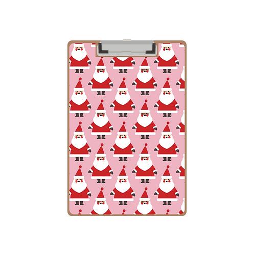CLIPBOARD mixed ethnicities santas pink pattern