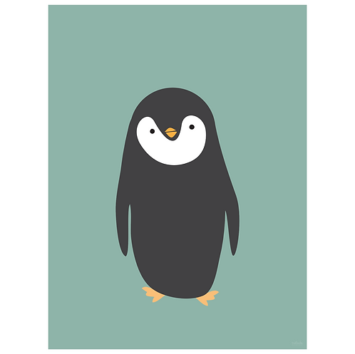 penguin art print - SKU 1616