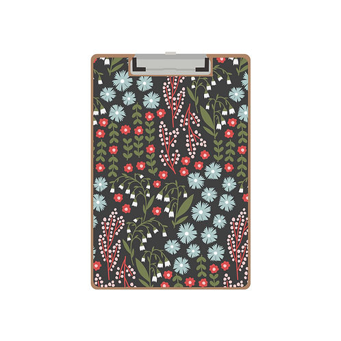 CLIPBOARD lillies of the valley floral mix winter pattern