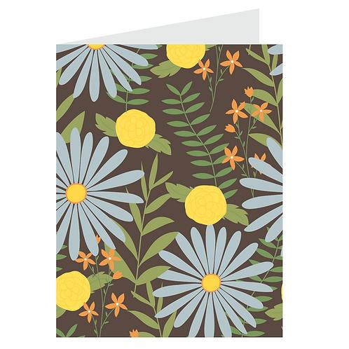 lazy daisies card