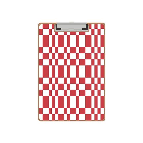 CLIPBOARD red tile pattern